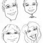 Caricature Drawin' Last Night…