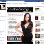 Show and Tell: Facebook Landing Page Christina Sanchez Hair Design