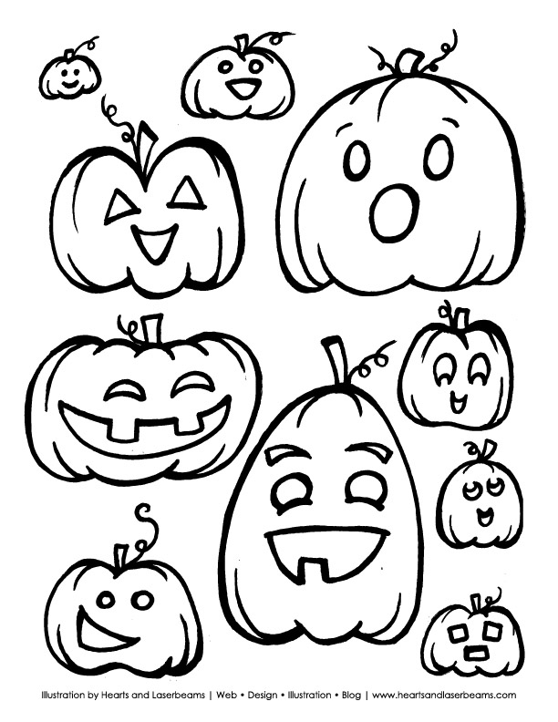 cute jack o lantern coloring pages images pictures becuo - Cute Halloween Bat Coloring Pages