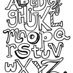 The ABC Letters: Free Hand Illustrated Alphabet Coloring Book Page