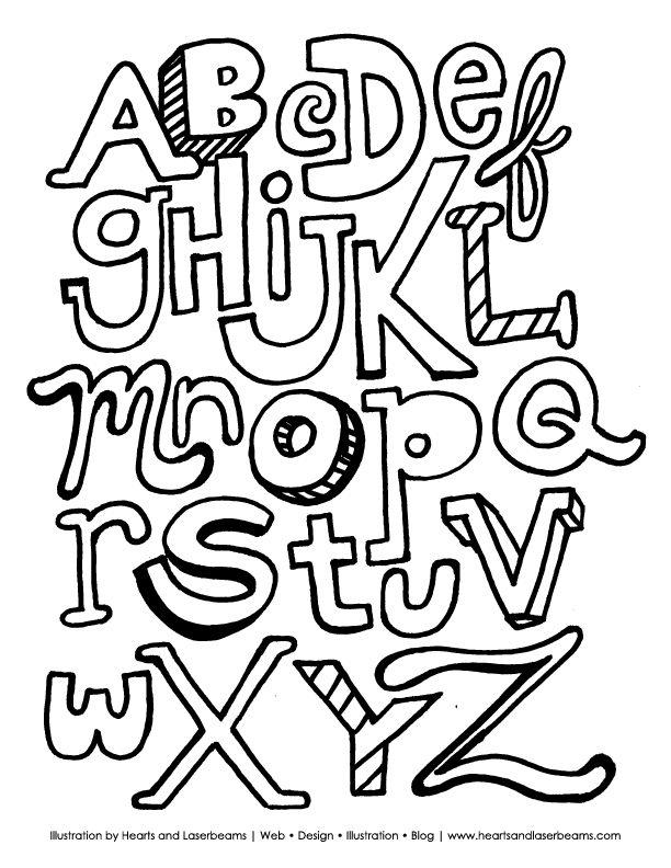 free printable coloring pages letters - photo#35