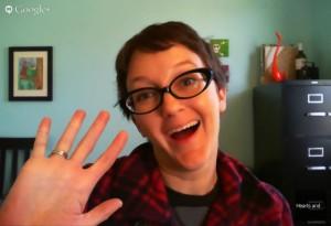 Taking a Selfie via Google Hangouts. It's as Ridiculous as it Sounds.