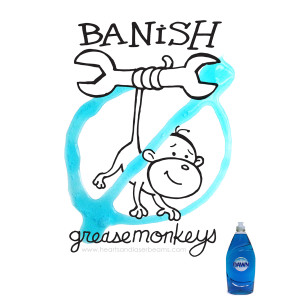 Banish Greasemonkeys - How to Clean Tools and Wheels with Dawn Dish Beyond the Sink - Hearts and Laserbeams