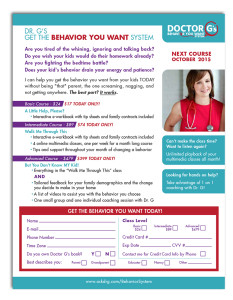 Sales sheet for Doctor G e-course