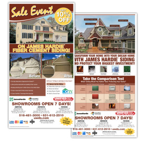 Direct mail flyer for James Hardie Building Products