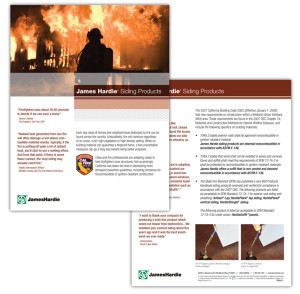 Informational one sheet for James Hardie Building Products