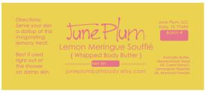 Label design for June Plum