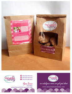 Packaging and business card design for Miracles for Mommy