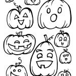 Free Halloween Printable Coloring Book Pages: Pumpkins, Ghosts and Bats!