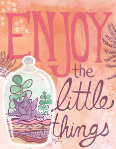 Enjoy the Little Things - Hearts and Laserbeams