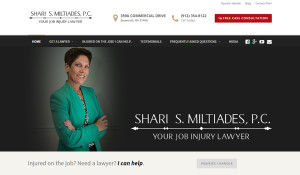 Law Firm Logo and Web Design for Shari Miltiades - Hearts and Laserbeams