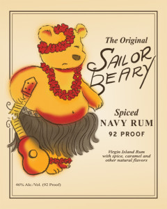 Sailor Beary Rum Illustration by Hearts and Laserbeams