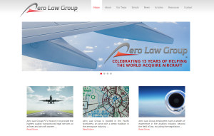 Web Design Portfolio - Aero Law Group website by Hearts and Laserbeams