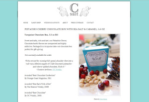 Web Design Portfolio - C Salt Gourmet website by Hearts and Laserbeams