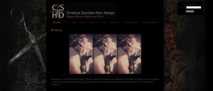 Web Design Portfolio - Christina Sanchez Hair Design website by Hearts and Laserbeams