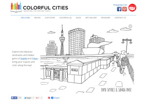 Web Design Portfolio - Colorful Cities website by Hearts and Laserbeams