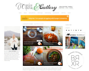 Web Design Portfolio - Cupcakes and Cutlery website by Hearts and Laserbeams
