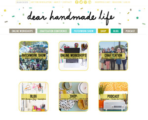 Web Design Portfolio - Dear Handmade Life website by Hearts and Laserbeams