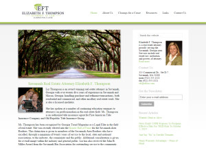 Web Design Portfolio - Elizabeth F. Thompson website by Hearts and Laserbeams