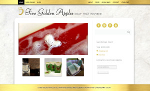 Web Design Portfolio - Five Golden Apples website by Hearts and Laserbeams