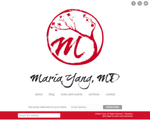 Web Design Portfolio - Maria Yang website by Hearts and Laserbeams