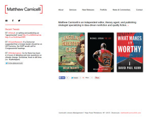Web Design Portfolio - Matthew Carnicelli website by Hearts and Laserbeams