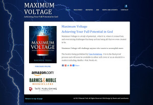 Web Design Portfolio - Maximum Voltage book website by Hearts and Laserbeams