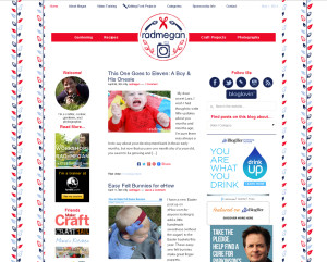 Web Design Portfolio - Radmegan website by Hearts and Laserbeams