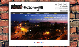 Web Design Portfolio - Urban Missionary 912 website by Hearts and Laserbeams