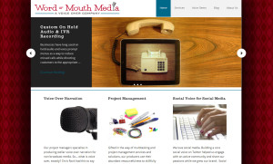 Web Design Portfolio - Word of Mouth Media website by Hearts and Laserbeams