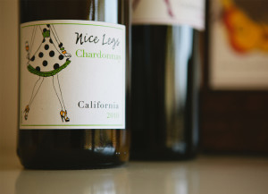 Wine Label Illustration by Hearts and Laserbeams
