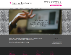 Hearts and Laserbeams Press Release: W3 Web Design Award Winner