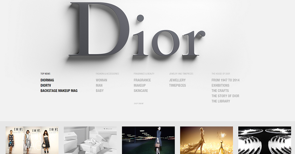 luxury home decor brands web design trends seen in 25 luxury brands 11638