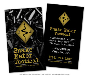 Business cards for Snake Eater Tactical