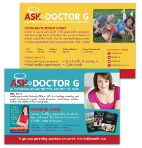 Promotional postcard for Doctor G