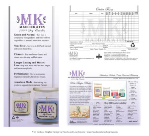 Print materials for Maddie Kates Candles