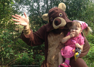 How to Make a Cute Father/Daughter Masha and the Bear Halloween Costume