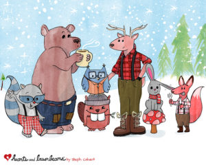 Character Design Concept: Cute Woodland Animals