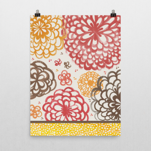 Graphic Pop Floral art print