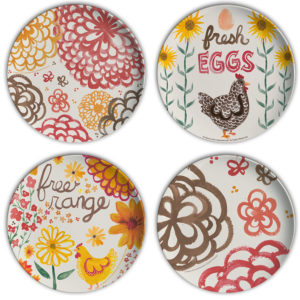 Farm Fresh Fun Plastic Chicken Plates by Hearts and Laserbeams