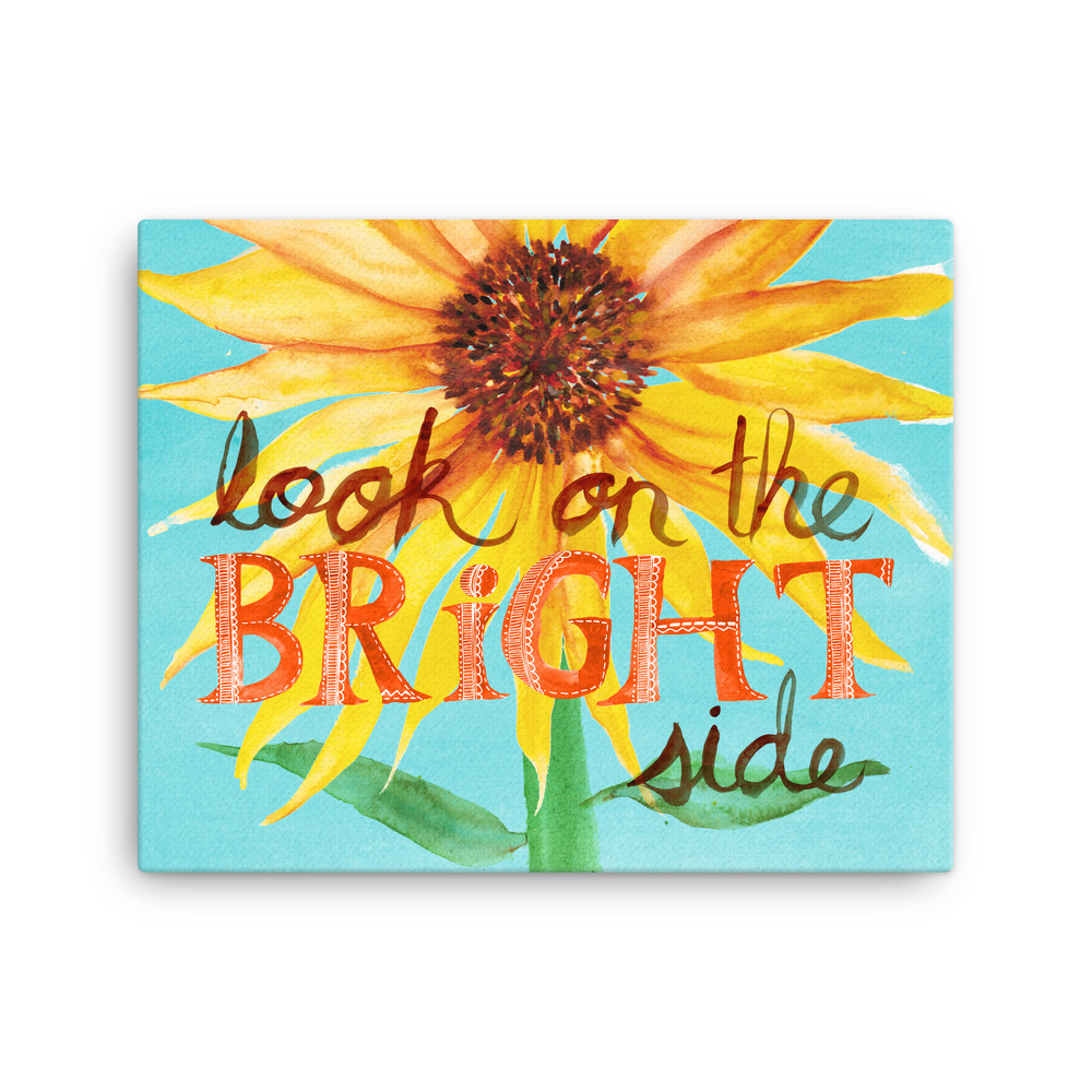 Look On the Bright Side Sunflower Gallery Wrapped Canvas