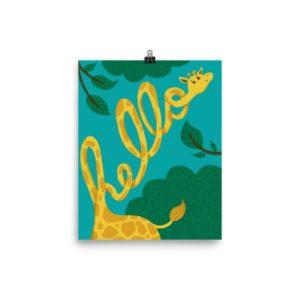 Hello Giraffe print